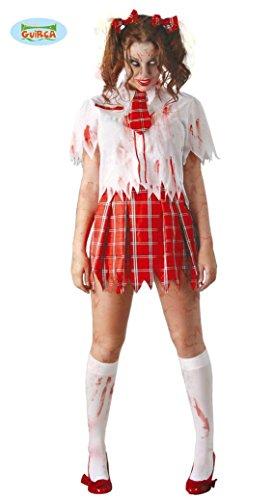 KOSTÜM - COLLEGE ZOMBIE - Größe 42-44 (L), Schulmädchen Schülerin Zombies Untote (College Girl Halloween Kostüme)