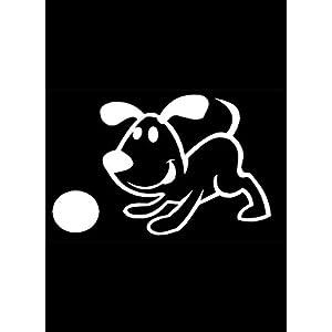 My Stick Figure Family Familie Autoaufkleber Aufkleber Sticker Decal Hund mit ball PD4