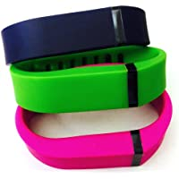 Preisvergleich für ! Small S 1pc Green 1pc Navy (Blue) 1pc Purple / Pink Replacement Bands + 1pc Free Small Grey Band With Clasp for Fitbit FLEX Only /No tracker/ Wireless Activity Bracelet Sport Wristband Fit Bit Flex Bracelet Sport Arm Band Armband