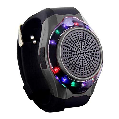 qiyanWrist Watch Haut-Parleur Bluetooth sans Fil Portable Extérieur Haut-Parleur Bluetooth Mini LED Clignotant Lights-in Haut-parleurs Portables Noir