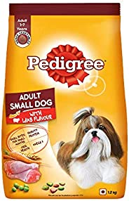 Pedigree Adult Small Dog Dry Food, Lamb & Veg Flavour – 1.2 kg Pack, B
