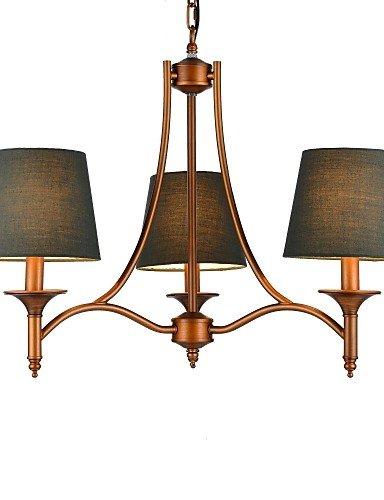 goud lampadario vintage lampadario, 3luce, classico tessuto pittura metallo, 220-240V