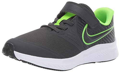Nike Unisex-Kinder Star Runner 2 (PSV) Sneaker, Grau (Anthracite/Electric Green-White 004), 32 EU