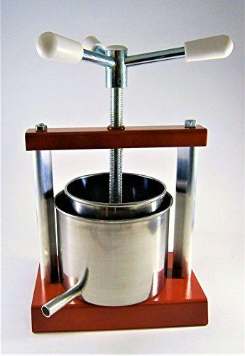 Pressoir à fromage à vis avec une cuve (Moule à fromage) de 1,4 litre - Pressoir à fruits - Fabriqué en Italie