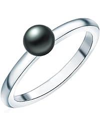 Valero Pearls - Bague - Perles de culture d'eau douce - Argent sterling 925 - Bijoux de perles - Bijoux pour femmes - En plusieurs tailles, bijoux en argent - 60925027