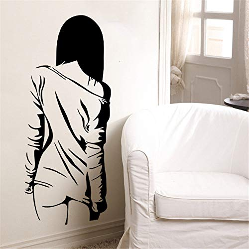 WWYJN Home Decoration Accessories Sexy Beauty Wall Stickers Student Dormitory Bedroom Cabinet Door Bar Ktv Background Decorative Gray 35 x 85 cm