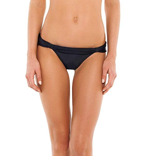 ViX Paula Hermanny Damen Solid Black Bia Tube Full Bottom Bikinihose, schwarz, X-Large -