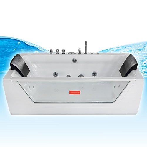 AcquaVapore Whirlpool Pool Badewanne Wanne A1813NA mit Reinigungsfunktion 90x185, Selfclean:aktive Schlauch-Reinigung +70.-EUR - 2