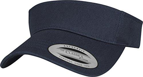 Flexfit Yupoong Damen und Herren Curved Visor Cap - Unisex Sonnenblende mit Klettverschluss - Farbe navy one size