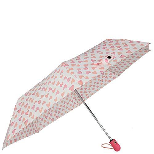 Esprit Regenschirm Easymatic Herz pink
