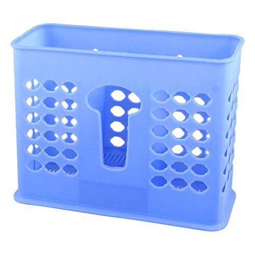 Fleur en plastique Trou Baguettes Cuillère Case Holder Bleu