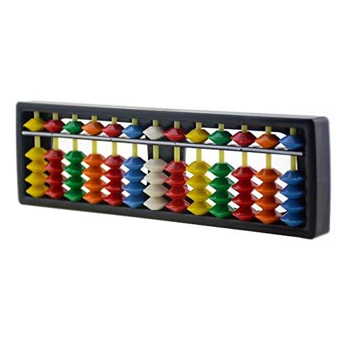 1 marco de calculadora abacus china de plástico ABS, varillas de 13...