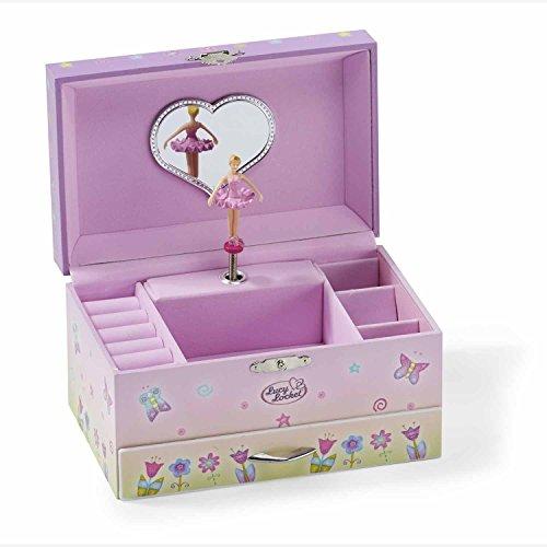 Lucy Locket - Portagioie musicale da bambina con carillon, scatola regalo per gioielli da fata rosa