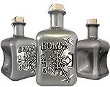 BOLT G!N Luxus Dry Gin limitiert auf 1.250 Flaschen aus deutscher Edelmanufaktur in silber 3D Tresor wilde Bergamotte und Kardamom Geschenk TOP Qualität