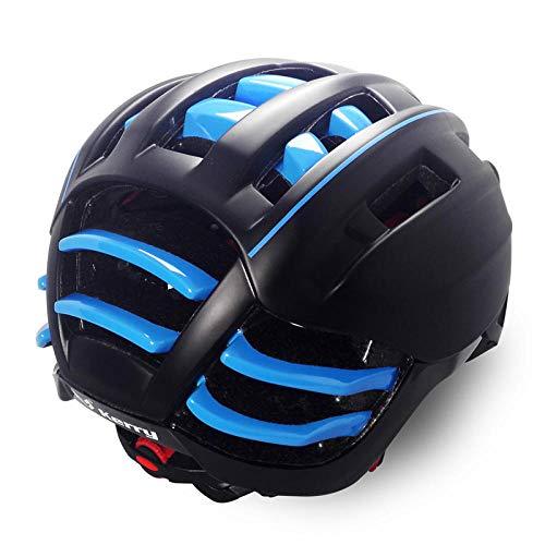 Straßenradhelm Outdoor Rollerskateboard mit UV Schutzbrille Blau -