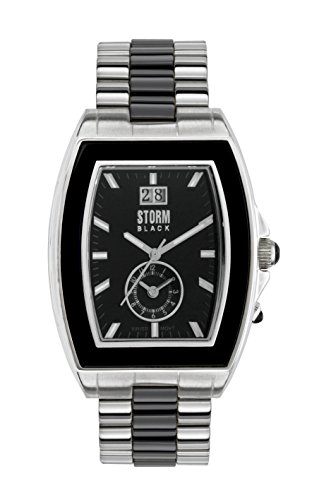 STORM Unisex-Adult Quartz Watch, Analogue Classic Display and Stainless Steel Strap 47031/S/BK
