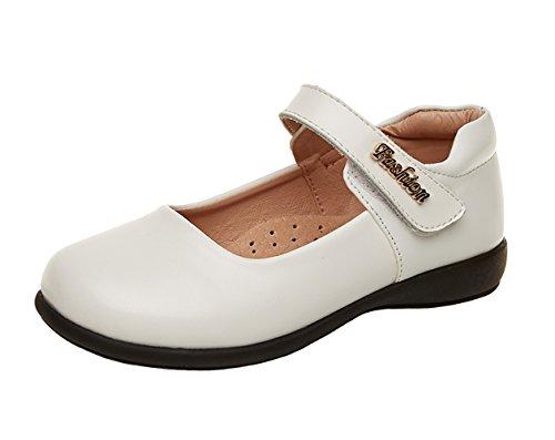 WUIWUIYU Chaussures Princesse Fille Mary Jane Ballerine Enfant pour Ceremonie Mariage