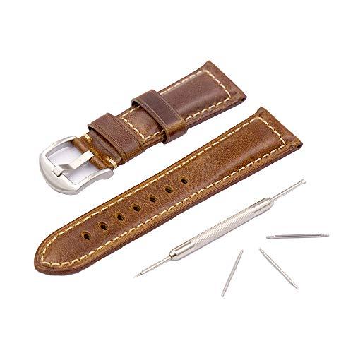 98eaa88f5ea1 Reloj Correa de Cuero para Hombre Reloj Panerai Correa de Repuesto Vintage  Correa de Acero para