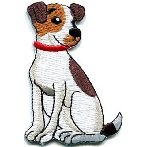Jack Russell Terrier Dog Canine Hound Pup Puppy Cur Applique Iron-on Patch S-671 Cute Gift to Your Cloth Fast Shipping by