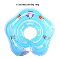 Baby Swimming Ring Newborns Inflatable Swimming Float Bathing Circle Baby Neck Float Inflatable Wheels Pool Rafts Summer Toys Swimming Accessories for 0-3Y Blue