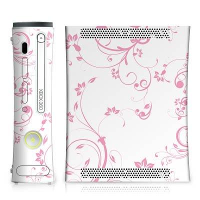 Microsoft Xbox 360 Design Skin Folie Aufkleber - Rosa Hauch (Rosa Für Xbox 360 Konsole)