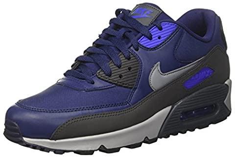 Nike Air Max 90 Essential, Baskets Basses Homme, Bleu (Binary Blue/Cool Grey-Anthracite-Wolf Grey), 42 EU