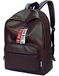 4e38ff176488e6 Kossh PU Leather Canvas Backpack - Durable and Light Weight - 13 inch  Laptop Bag for