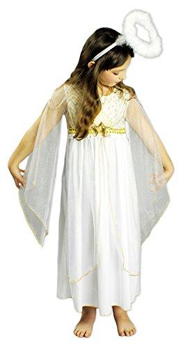 Engel Kostüm Kleid Lucia für Mädchen Gr. 140 (Mädchen Kleid Engel)