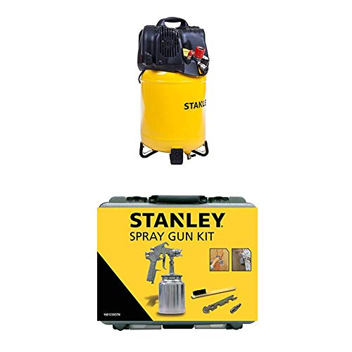 STANLEY Compressor D200/10/24V + Spray Gun Kit