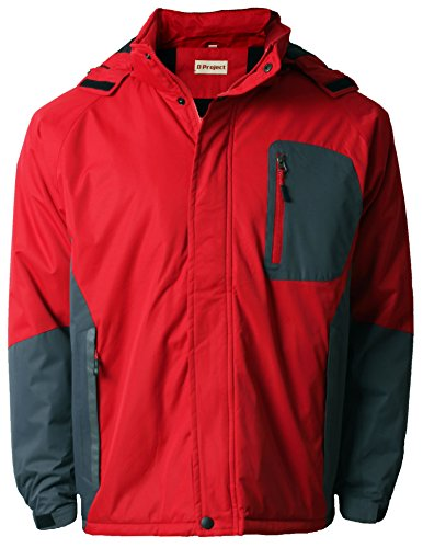 D project - Blouson - Manches Longues - Homme Rouge - Red/Dark Grey