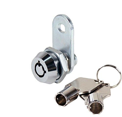 FJM Security MEI-2400AXS-KA Tubular Cam Lock with 3/8 Cylinder and Chrome Finish, Keyed Alike by FJM Security