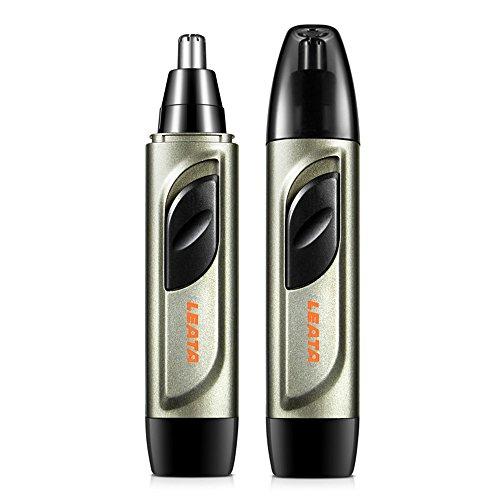 Nasenhaartrimmer mit Wasserabweisendem Edelstahl Nasen und Ohren Haartrimmer Rotations-schneidsystem Nasenhaarschneider Netzanzeigeleuchte Haarentferner Batteriebetrieben
