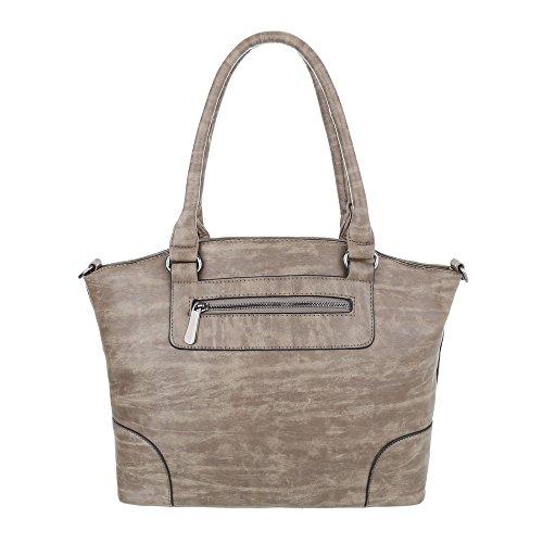 Taschen Handtasche In Used Optik Modell Nr 1 Grau