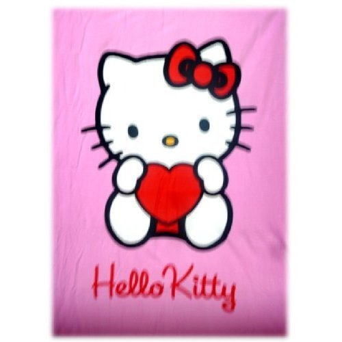 hello-kitty-polaren-fleecedecke-rosa