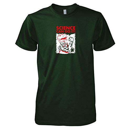 TEXLAB - Dino Science - Herren T-Shirt Flaschengrün