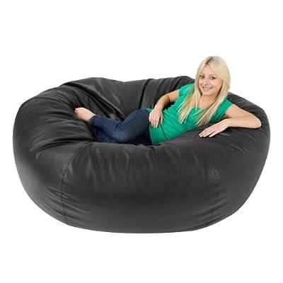 Bean Bag Bazaar Monster Double Faux Leather Two Seater Giant Bean Bags - XXXL Beanbag Sofa for 2
