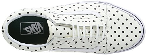 Vans Old Skool, Unisex-Erwachsene Sneakers Weiß (polka Dots/white)