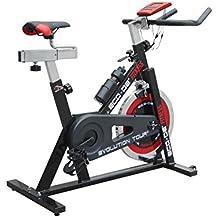 ECO-DE Bicicleta de Spinning Evolution Tour. Uso semiprofesional con pulsómetro, Pantalla LCD