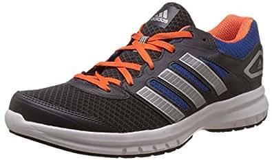 adidas Men's Galactus M Dark Grey, Silver, Blue and Orange Mesh Running Shoes - 10 UK
