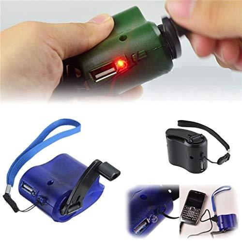 Lorsoul Portable USB-Kurbel-Telefon Notfall-Ladegerät MP4 Handy Außen Handbuch Stromversorgung (Kurbel-handy-ladegerät)