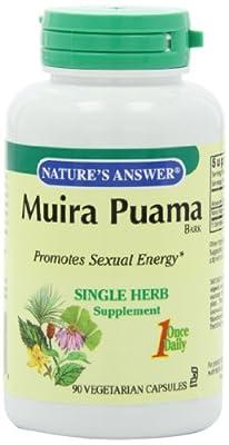 Nature's Answer, Muira Puama, Bark, 90 Veggie Caps by Nature's Answer