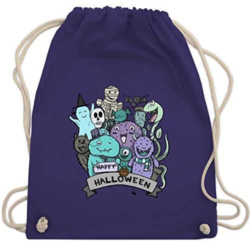 Halloween - Happy Halloween Monster - Unisize - Lila - WM110 - Turnbeutel & Gym Bag