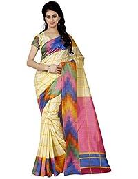 Trendz Women's Cotton Silk Saree With Blouse Piece (Tz_1088_Multicolor)
