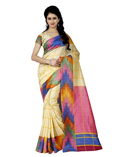 Trendz Style Bhagalpuri Silk Saree(TZ_1088)  available at amazon for Rs.449