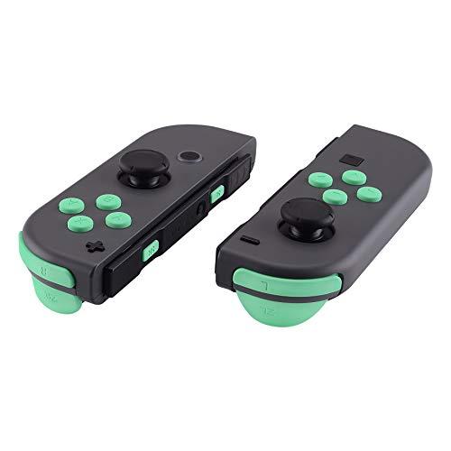 eXtremeRate Buttons Kit ABXY Tasten Knöpfe SR SL L R ZR ZL Trigger, Tasten Federn Komplett Set Ersatzteile mit Werkzeug für Nintendo Switch JonCon(Mintgrün)-Keine JoyCon Hülle -