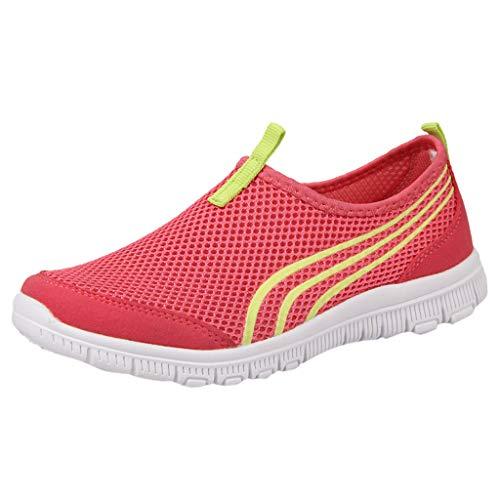 iHENGH Scarpe Pantofola Stampa Running Sport per Donna Scarpa da Ginnastica Ragazza Scarpe Moda Casual Fitness Shoes Women Fashion Pelle Sneakers Estate Nero