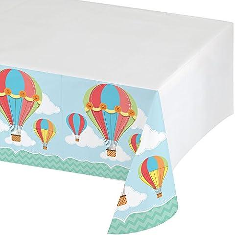 """1 Plastik-Tischdecke aus der Serie """"Up, Up & Away"""" für Heißluftballons- und Reise-Partys"""