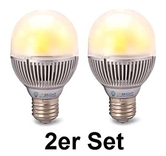 VIRIBRIGHT ampoule LED, E27, 8 watts, 650 lumens, 4000K (blanc) * dimmable * Lot de 2 *
