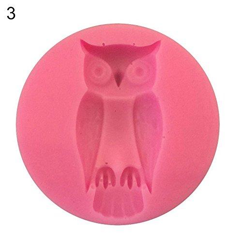 Ruby569y Keksausstechform für Backen, Halloween, Spinnen-Hand, Kürbis-Form, Fondant, Kuchen-Dekoration, Baum Owl#