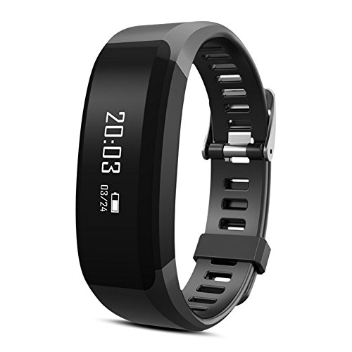 CURIOCITY™ Black Bluetooth Smart Band with fitness tracker Heart Rate Pedometer Calories Sleep Monitor Call Reminder Camera Control for Android/IOS Mobile Phones compatible with Samsung iPhone HTC Moto Intex Vivo Mi One Plus and many others!